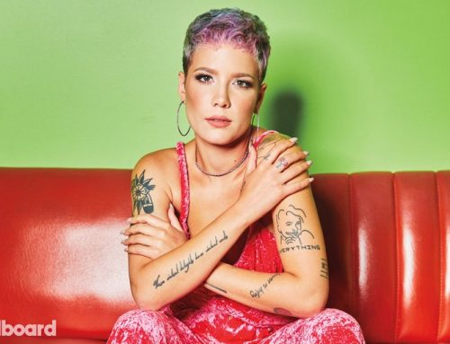 Halsey Blooms in a Flower Bed in 'Graveyard' Spotify Vertical Video